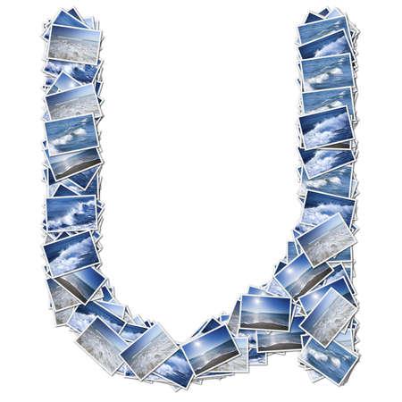 アルファベット オーシア オーシア写真からフォントが作られました。