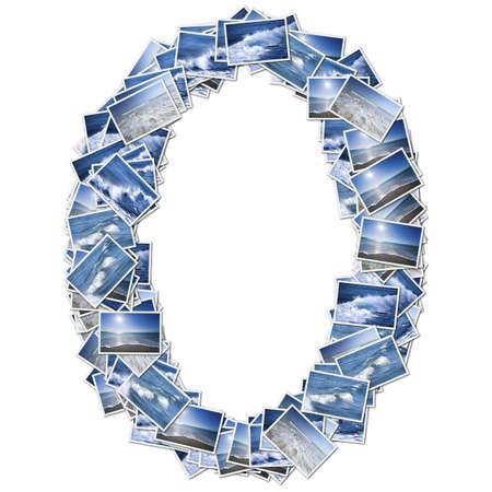 数値海フォント、海写真から作られました。 写真素材