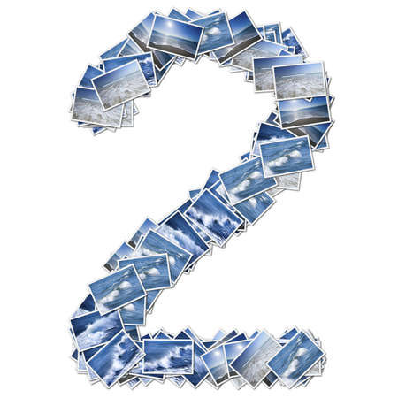 stock photographs: Number ocean font, made from ocean photo.