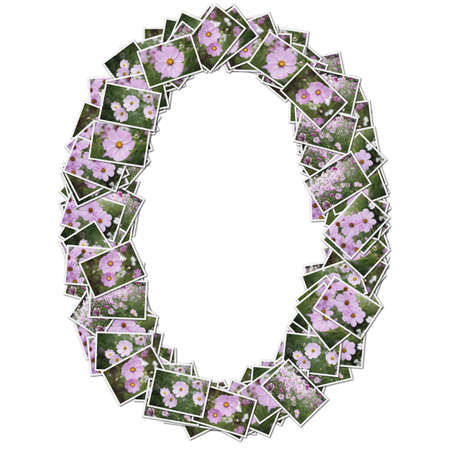 Number flower font, made from flower photo.  Stock Photo - 12594536