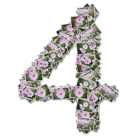 stock photographs: Number flower font, made from flower photo.