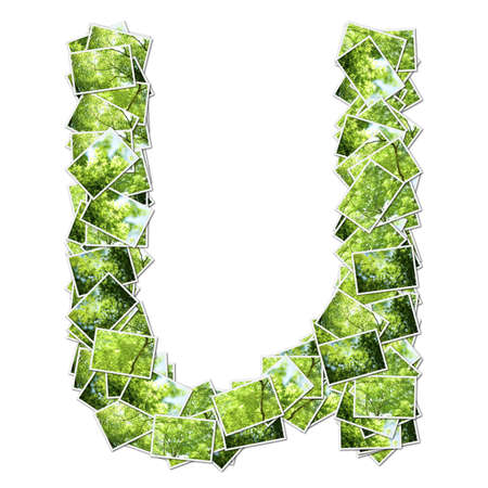 Alphabet green Font, made from green photo. Stock Photo - 12594190