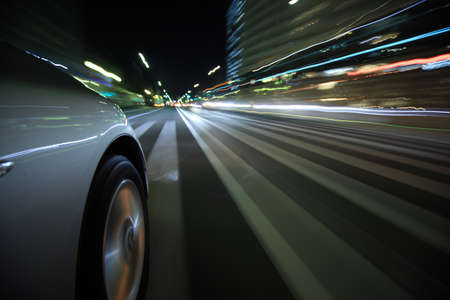 Driving in the night city Stock Photo - 18996179