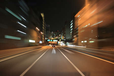 street shots: Driving on the night road