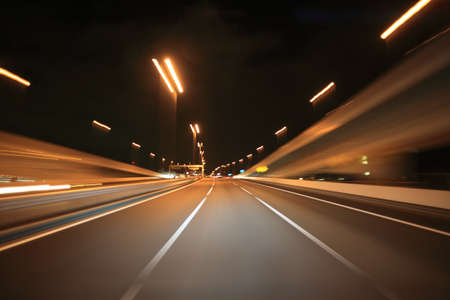 Driving on the night road