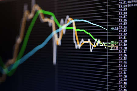 Foreign exchange market chart Stock Photo - 19364349
