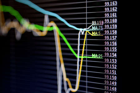 Foreign exchange market chart Stock Photo - 19364348