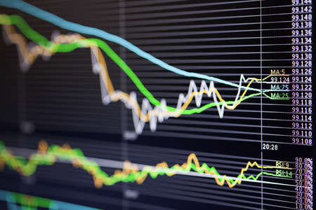 Foreign exchange market chart Stock Photo - 19364355