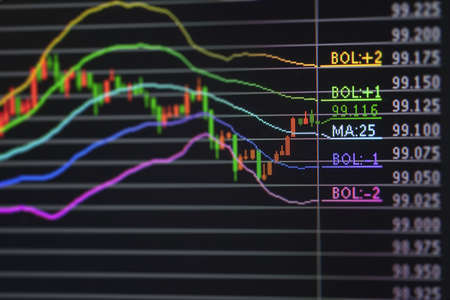Foreign exchange market chart Stock Photo - 19364332