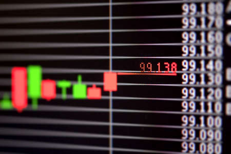 Foreign exchange market chart Stock Photo - 19364335