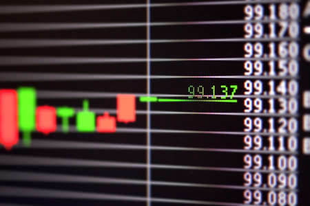 Foreign exchange market chart Stock Photo - 19364342
