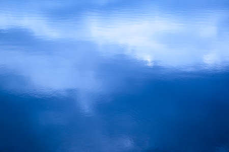 Cloud sky reflect on  the lake photo
