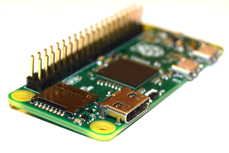 microprocessors: Warsaw, Poland - February 2, 2016, New Raspberry Pi Zero, small computer developed in the UK by the Raspberry Pi Foundation. Editorial