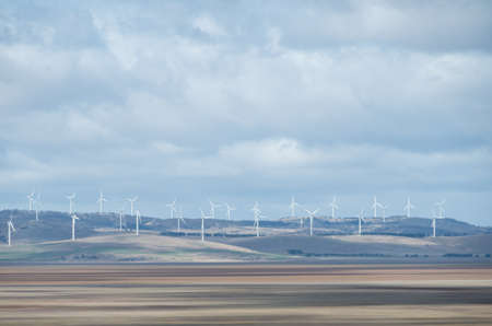 Wind Farm at Lake George in the ACT, Australia