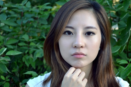 Attractive Young Asian Woman s Portrait