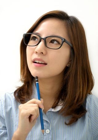 Looking for inspiration Stock Photo