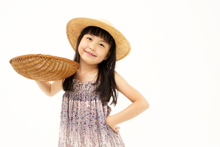 Little girl with basket photo