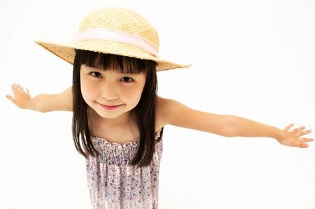 Little girl streching