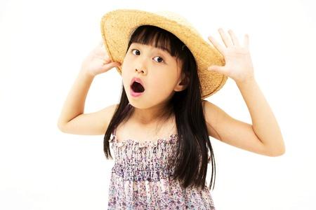 studio shots: Surprised little girl