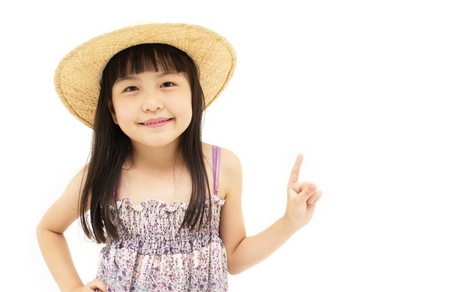 Cute Girl In Pointing photo