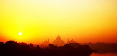 Taj Mahal at sunrise in India photo