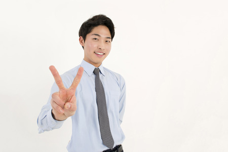 victory sign: Peace  Stock Photo