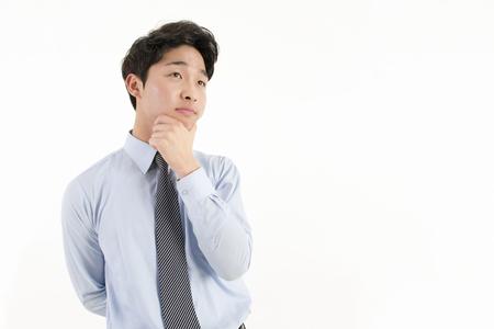 Asian businessman worry something
