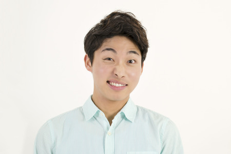 korean man: Asian handsome male student Stock Photo