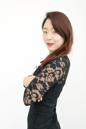 sexy asian woman: Sexy asian woman with her arms crossed