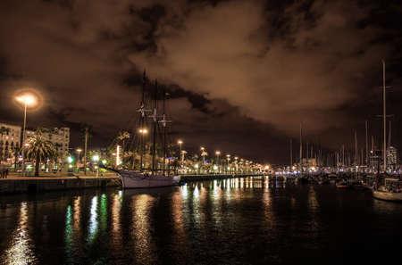 rambla: La Rambla Pier in Barcelona, Spain