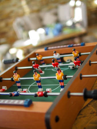 recreation room: Miniature soccer game is fun to play with friends and family