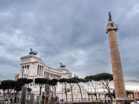 roman pillar: Altare della Patria in Rome, Italy