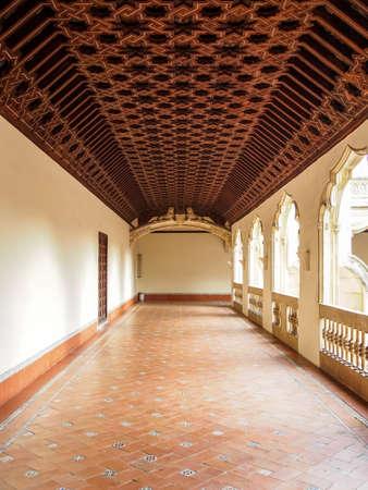 hallway: A hallway inside the Monastary of San Juan de los Reyes