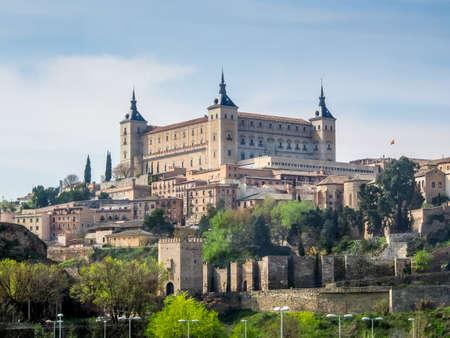 alcazar: Alcazar of Toledo from the bridge Editorial