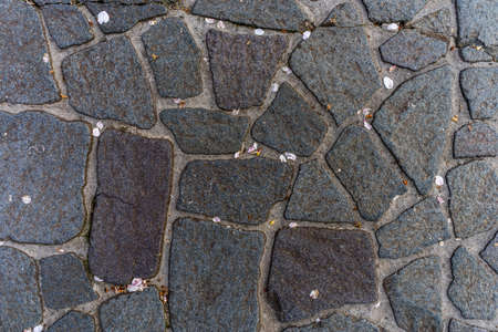 stone road: Texture of the Japanese stone road Stock Photo