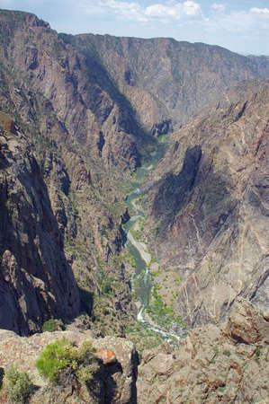 Black Canyon View Stock Photo