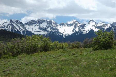 San Juan Mountain Range in June