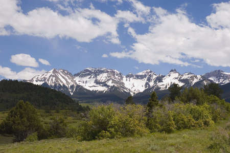San Juan Range in Summer Stock Photo