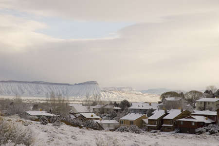 Mt. Garfield and the Bookcliffs, Grand Junction, Colorado, after a January Snowstorm
