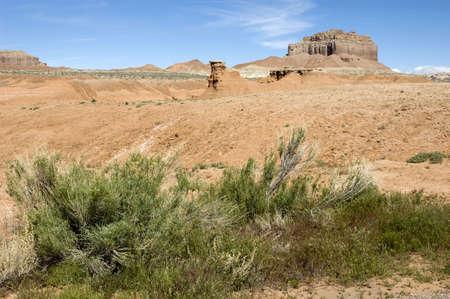 Butte in the Utah Desert at Goblin Valley