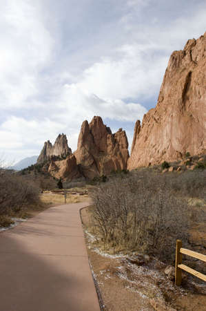 Path at Garden of the Gods Stock Photo