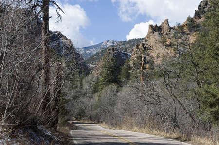 Cheyenne Canyon, Colorado Springs, Colorado Stock Photo