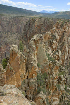 Ridge in the Black Canyon of the Gunnison Stock Photo