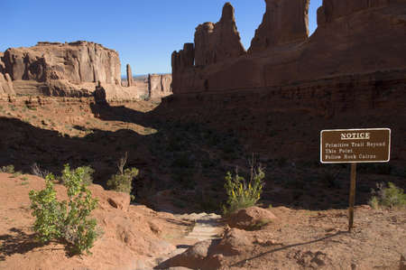 Primitive trail in Arches National Park Stock Photo