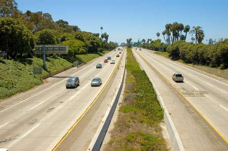 perspectiva lineal: Autopista sin peaje los E.E.U.U. 101 De Ventura