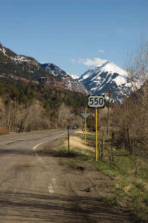 Highway 550 looking toward Ouray, Colorado