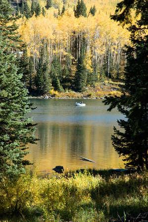Boat in an Autumn Lake