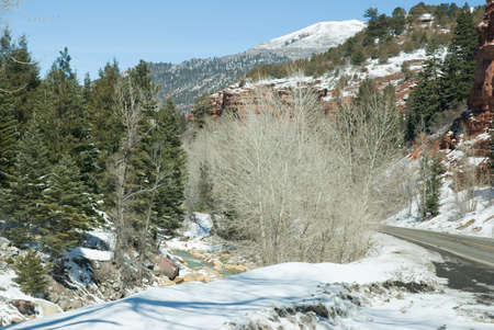 Stream near Ouray, Colorado in late winter