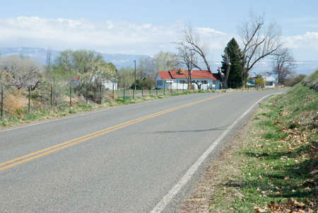 Country road in the Redlands section of Grand Junction, Colorado in the spring