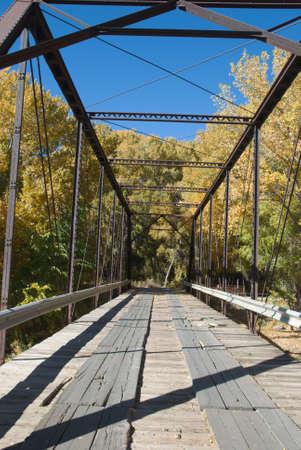 Black Bridge over the North Fork of the Gunnison River Stock Photo - 11865661